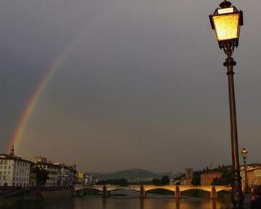 Regenbogen über Florenz