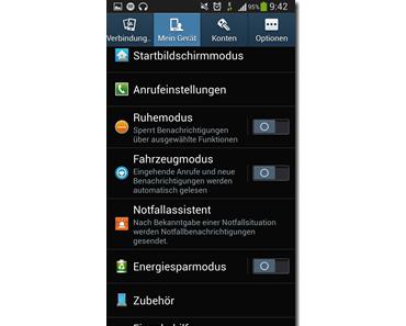 Samsung Galaxy S4: Ruhemodus aktivieren