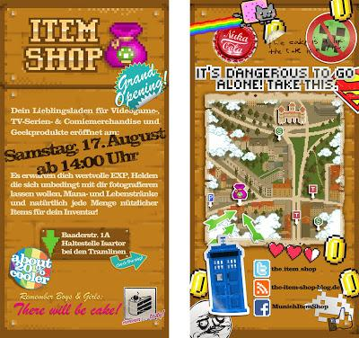 the item shop neuer merchandise comic nerd laden in m nchen. Black Bedroom Furniture Sets. Home Design Ideas