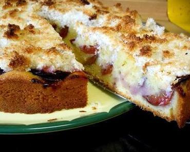 Pflaumen-Kokos-Kuchen