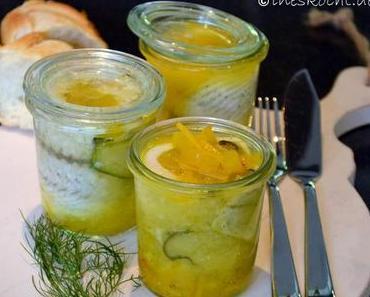 Seezungenröllchen mit Paprika-Safran-Sauce im Weckglas gegart