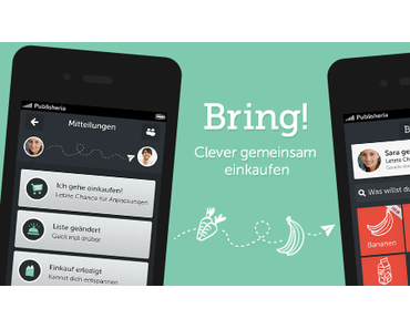 Bring! Einkaufsliste: App mit Push-Mitteilungen und Profilen