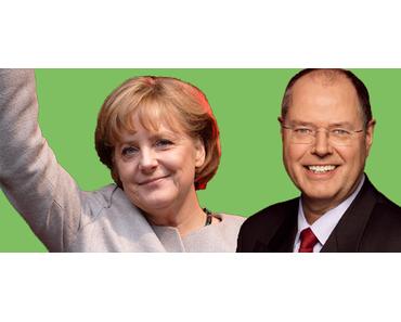 Kanzlerwahl: Körpersprache von Angela Merkel und Peer Steinbrück
