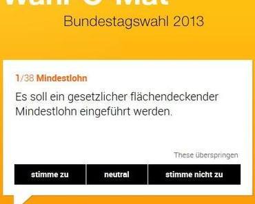 Wahl-O-Mat für die Bundestagswahl 2013 verfügbar