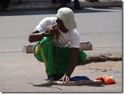 Schlangenbeschwörer in Madagaskar