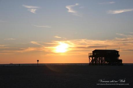 Wordless/Wordful Wednesday: A lovely sunset at the Beach of St. Peter-Ording (North Sea)