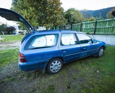 In Neuseeland im Auto Schlafen