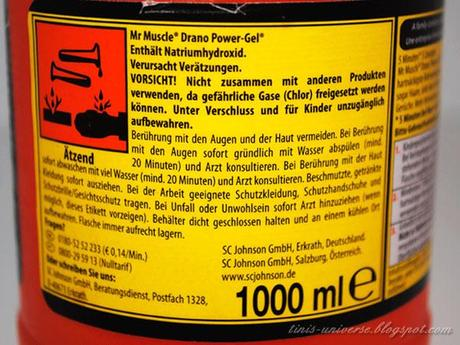 Mr Muscle Drano Power Gel