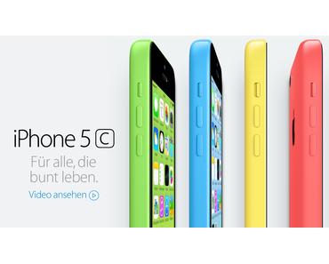 iPhone 5C: 4-Zoll Retina-Display, Plastik-Gehäuse, A6-Prozessor, ab 599 Euro