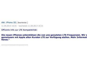Offiziell: iPhone 5S und iPhone 5C LTE auch bei O2!
