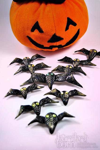 Halloween sticker DIY- Grusel-Anstecker