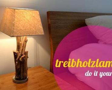 DIY // treibholz-lampe