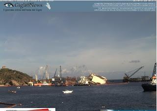 Bergung Costa Concordia soll aufgerichtet werden - N-TV mit Livestream - Start heute 6 Uhr
