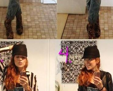 iPhone-Styles: Jeans-Latzhose