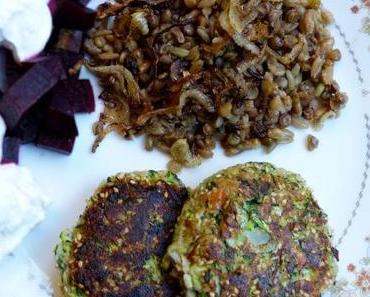 Rezepte von Haya Molcho: Zucchini-Kebaps und Mejadra mit Grünkern