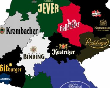 Bier-Landkarte von Deutschland