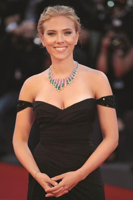 Scarlett Johansson wears Versace at The 70th Venice Film Festival 2