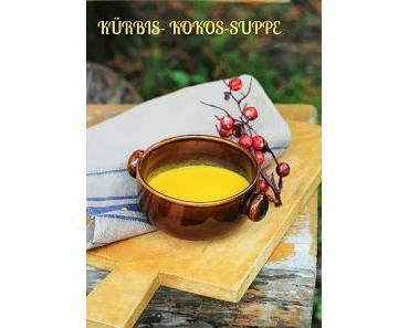 Kürbis- Kokos- Suppe... typisch Herbst