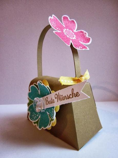 1. Projekt vom Embossing-Workshop: Mini-Tasche