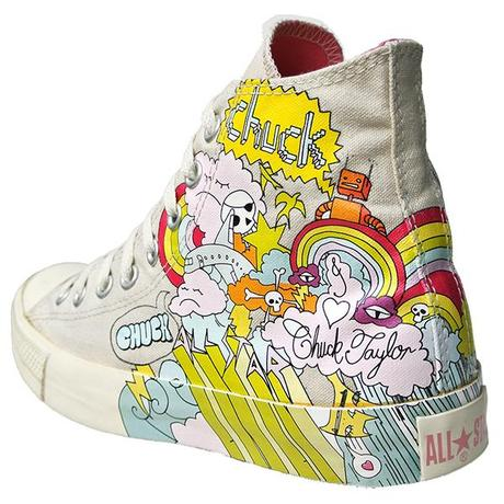 Converse Chucks All Star Chuck Taylor Sneakers 1T055 Skull