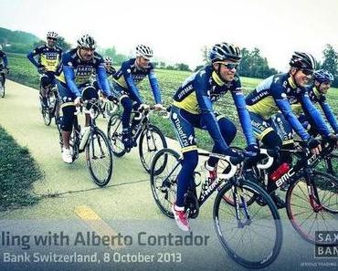 Saxo Bank Ride mit Alberto Contador und Bjarne Riis