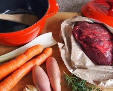 Ox Cheek Stew with fluffy Dumplings - Eintopf aus Ochsenbäckchen mit Klößchen