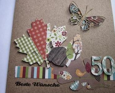 Ein Herbst-Karte zum 50. Geburtstag