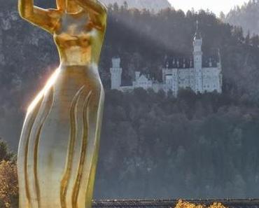 Griechische Göttin, deutsches Design, chinesische Wertarbeit: Die goldene Aphrodite von Schwangau weist den Weg zur Königlichen Kristall-Therme