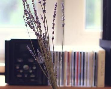 Lavendel, Lavendel, Lavendel, eine DIY-Schachtel und ein neues Kissen.