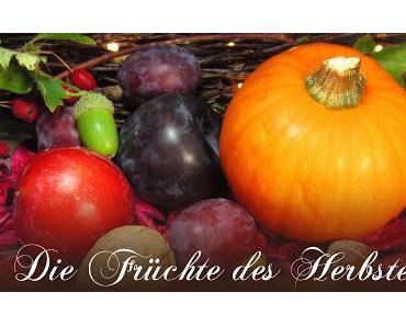 Wir schminken Herbstfrüchte - Quitte und Eichel