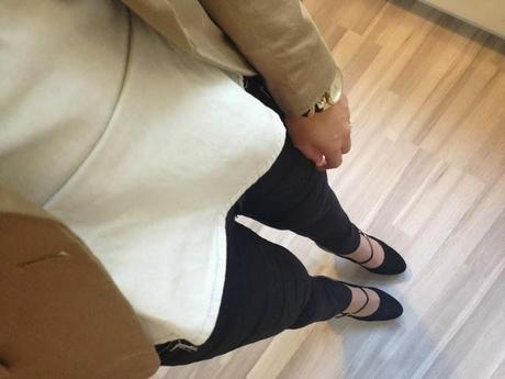 Beige and Black