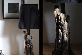 lampe aus schwemmholz. Black Bedroom Furniture Sets. Home Design Ideas