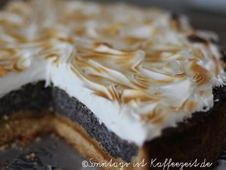 Mohn Marzipan Kuchen Mit Baiser Aus Dem Lecker Bakery