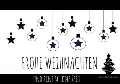 Lovely printables weihnachtskarten zum gratis download black white inspiration - Weihnachtskarten download ...