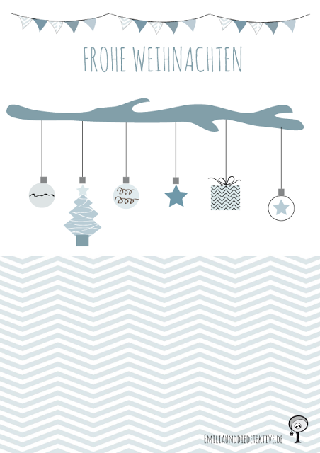 Lovely Printables - Weihnachtskarten zum Gratis Download Black & White Inspiration