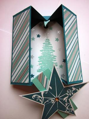 Box Card mit Christmas Star