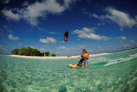 Kiten auf den Malediven