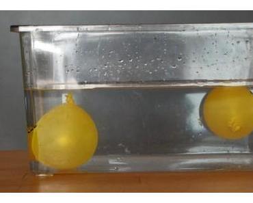 Salzwasser im Luftballon