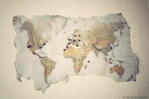 Vintage-Weltkarte