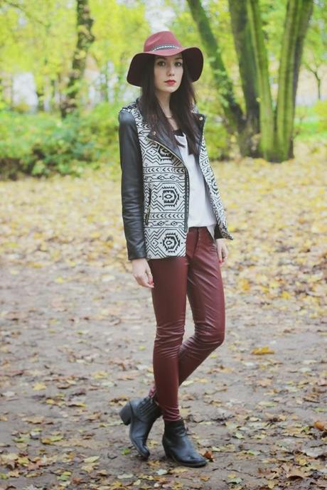 OOTD: Red Leather Pants