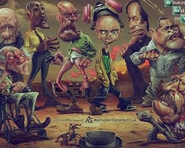 Fantastische Breaking Bad Karikaturen von Anthony Geoffroy