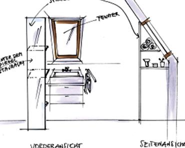 [Tipp]: Wie man einen Spiegel an der Dachschräge befestigen kann