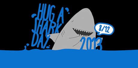 Kuriose Feiertage - 8. Dezember - Hug a Shark Day 2013 - Logo - Screenshot www.hug-a-shark-day.net