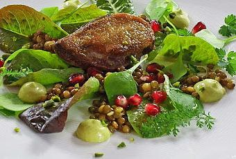 Salat Weihnachten.Für Weihnachten Ein Salat Mit Taube
