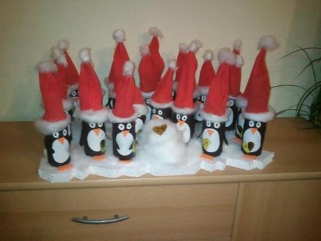 Diy Adventskalender Pinguine Auf Eisscholle
