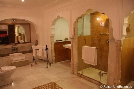 Samode Haveli - Bad in unserer Suite