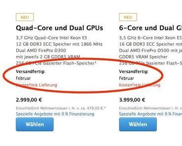Neuer Mac Pro bereits vergriffen?