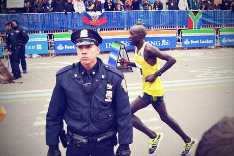 New York November 2013 Marathon Polizist