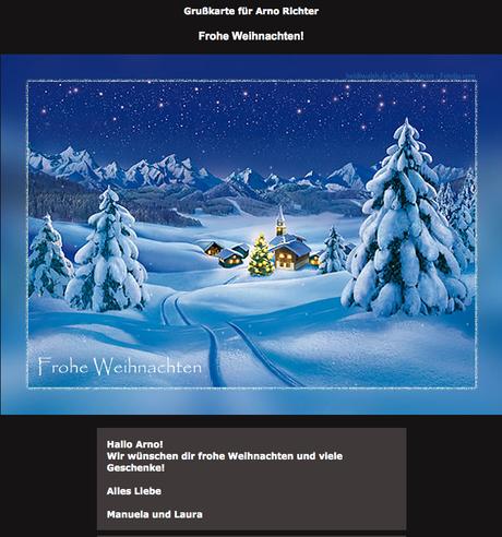 weihnachtsgr e verschicken mittels weihnachts ecards. Black Bedroom Furniture Sets. Home Design Ideas