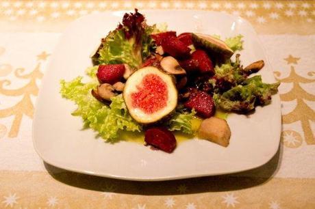 unser festtagsmen 1 4 salat mit feigen salsiz und pilzen. Black Bedroom Furniture Sets. Home Design Ideas